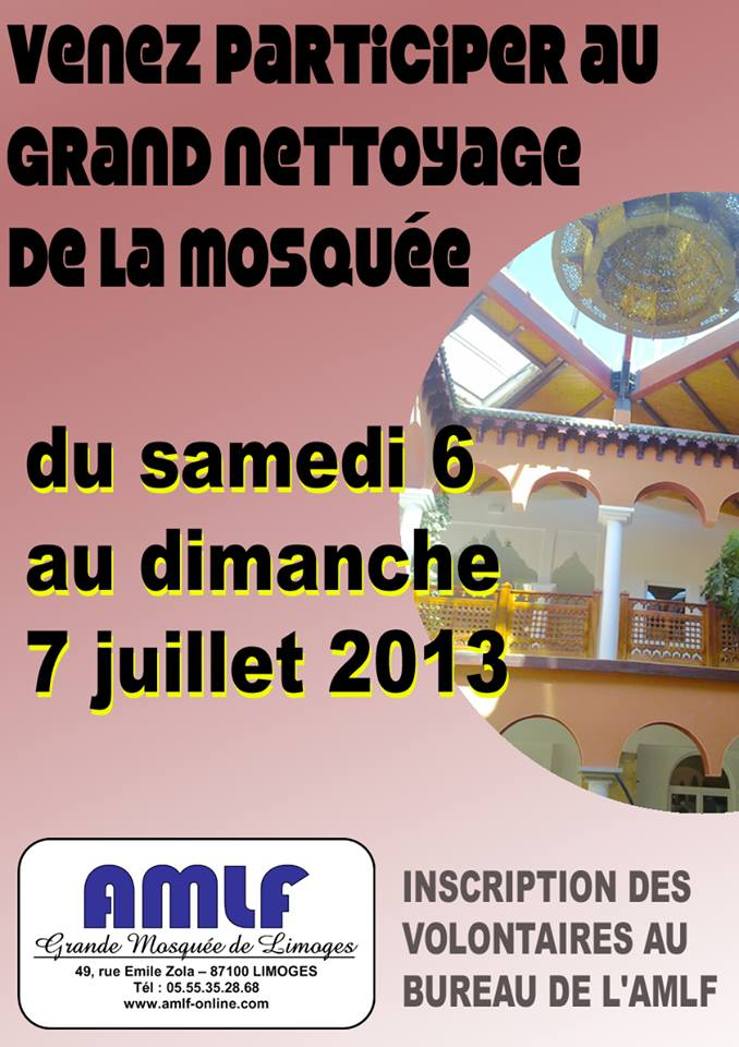 Nettoyage mosquee Limoges