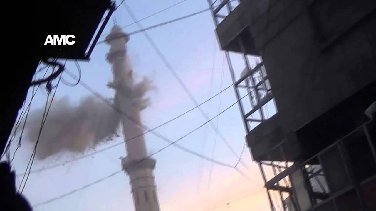 Syrie – Un nouveau minaret s'effondre sous les bombardements