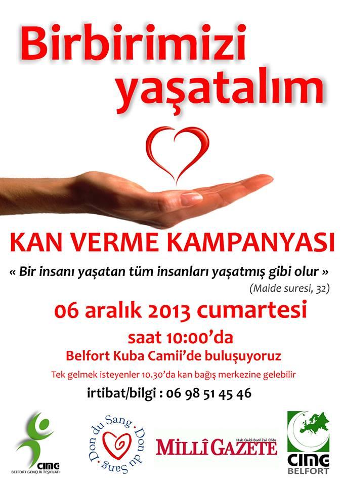 Don sang mosquée Kouba de Belfort