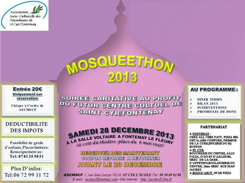 Soirée caritattive au profit de la mosquée de Fontenay Saint Cyr