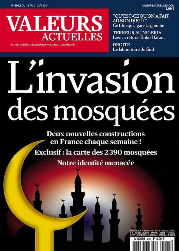 La UNE islamophobe de Valeurs Poubelle