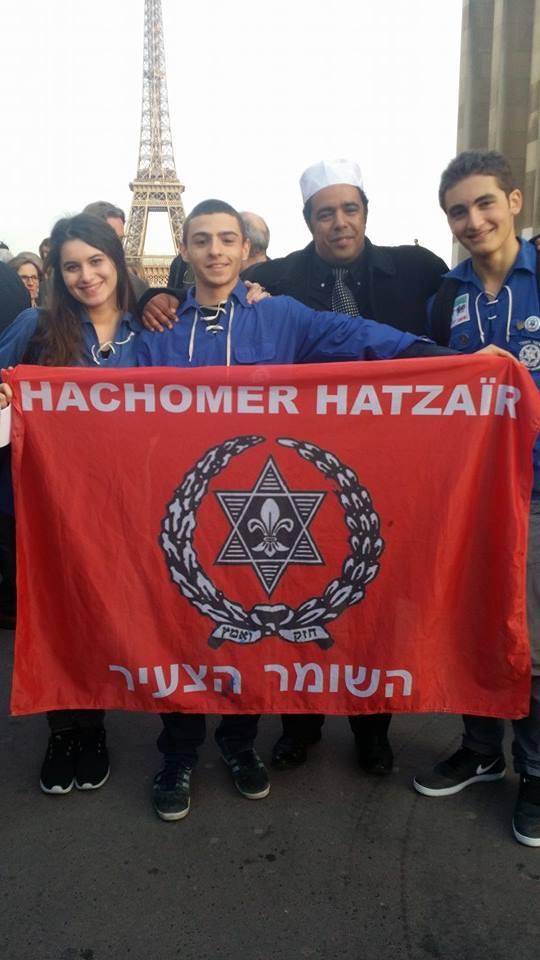 Birbach avec des jeunes d'une mouvance sioniste