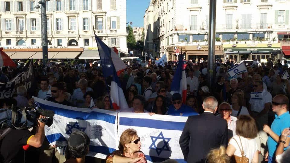 Les juifs de Marseille soutiennent Israël
