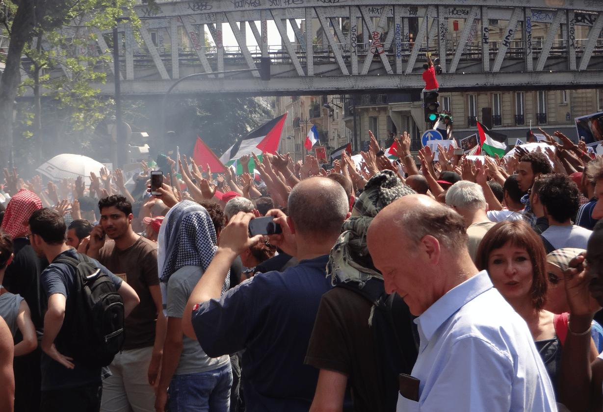Manifestation interdite à Paris 19 juillet 2014 1