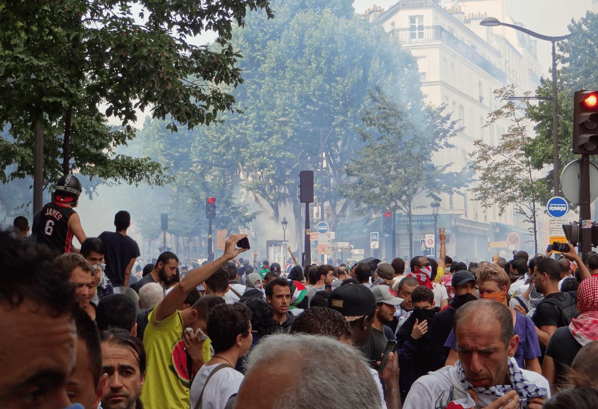Manifestation interdite à Paris 19 juillet 2014 3