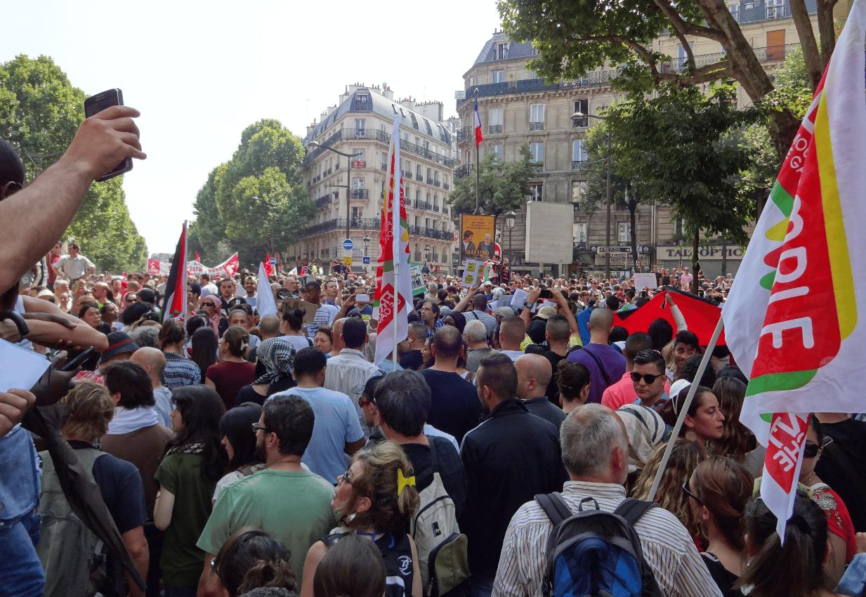 Manifestation interdite à Paris 19 juillet 2014 5
