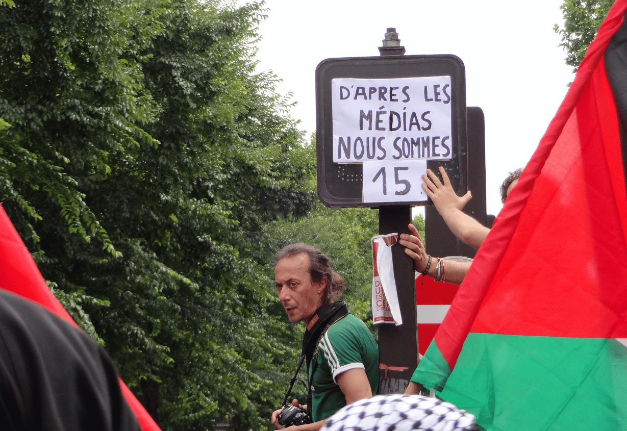 Manifestation interdite à Paris 19 juillet 2014 6