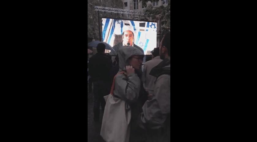 Rachid Birbach à Genève pour soutenir la barbarie sioniste
