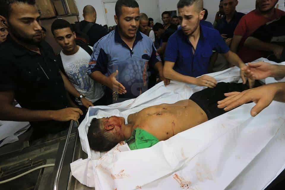 quatre enfants de Gaza victimes de l'entité sioniste 2