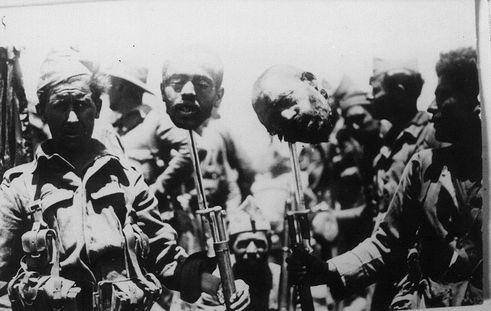Des têtes de rifains décapités l'armée espagnole d'Afrique
