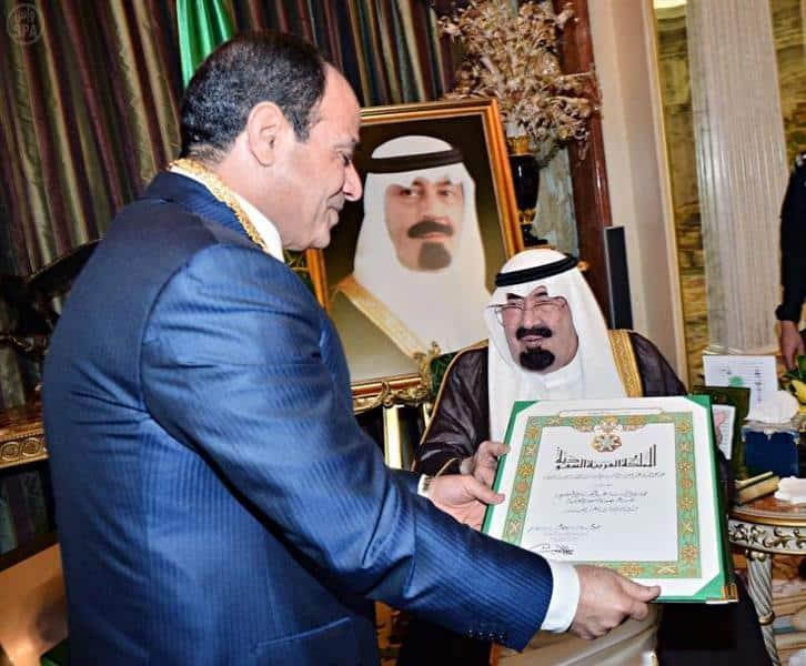 Sissi et le roi Abdallah