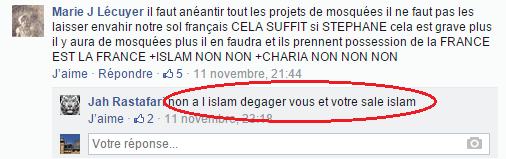 Page Facebook anti mosquée Strasbourg 2