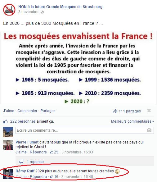 Page Facebook anti mosquée Strasbourg 20