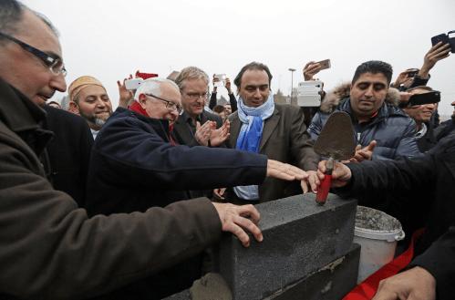 Pose de la première pierre pour la mosquée Euup Sultan de Roubaix