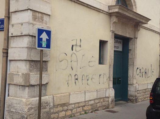 La mosquée de Châlon a été taguée