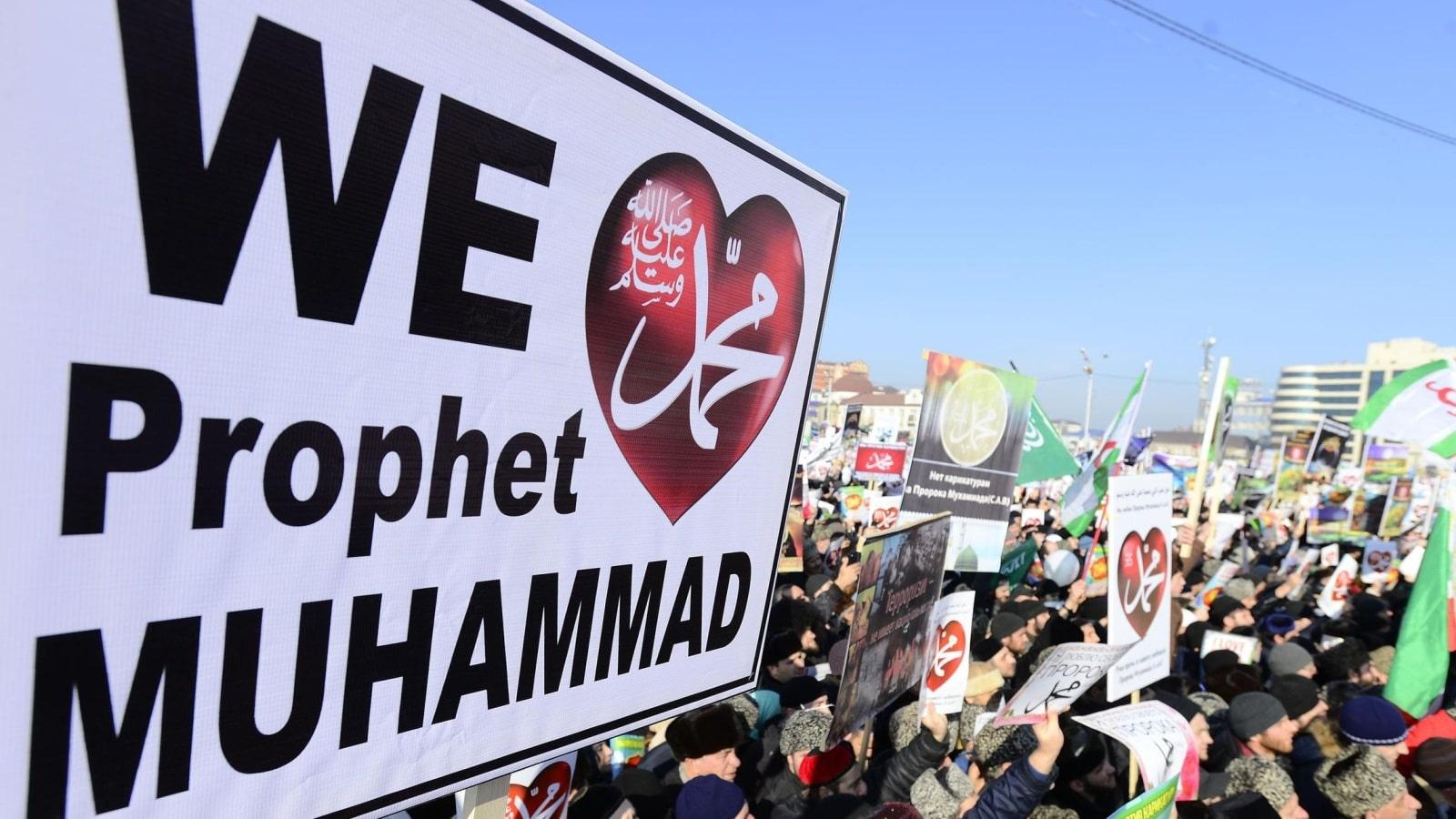 Manifestation à Grozny contre Charlie Hebdo