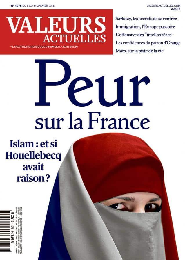 Peur sur la France, la prochaine couverture islamophobe du magazine poubelle Valeurs Actuelles