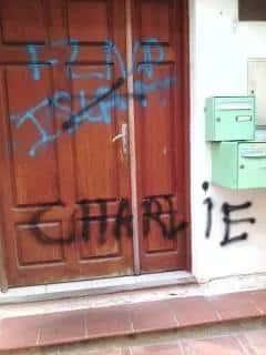 Tags insultants sur la mosquée de Cuers