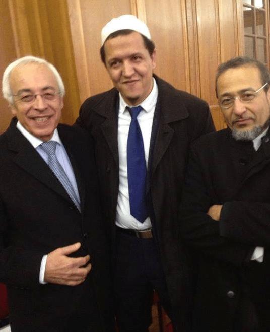 Tareq Oubrou Chalghoumi et l'ambassadeur d'Israël