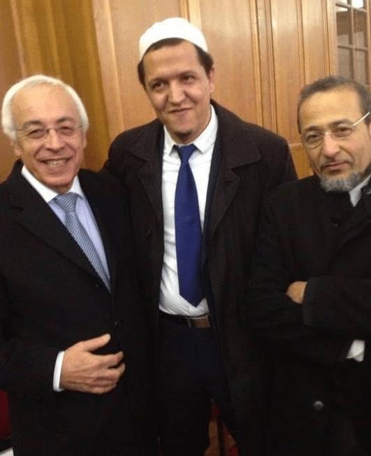 l'ambassadeur d'Israël entouré de Chalghoumi et Oubrou imam de Bodeaux
