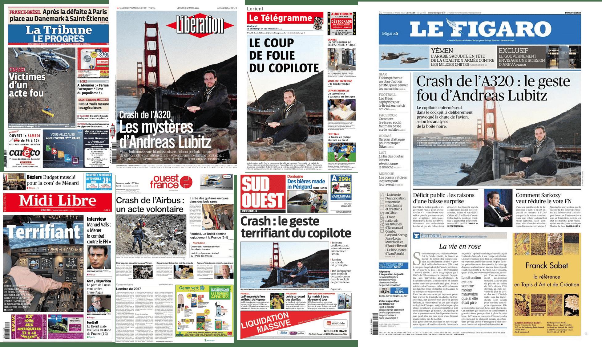 Andreas LUBITZ dans les journaux français