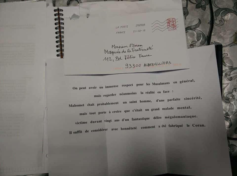 Une série de courriers islamophobes adressée à des mosquées françaises