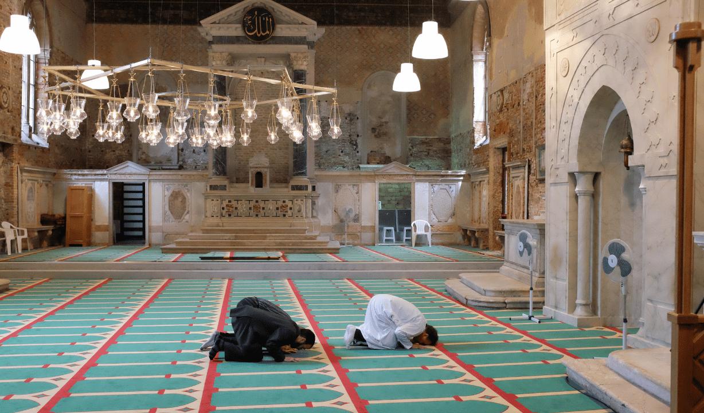 A Venise, une église convertie en mosquée le temps d'une exposition