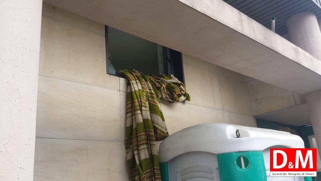 Mulhouse  le futur centre culturel Millî Görüş vandalisé 2