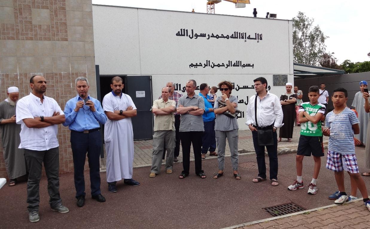 Rassemblement soutien mosquée Kouba de Mulhouse