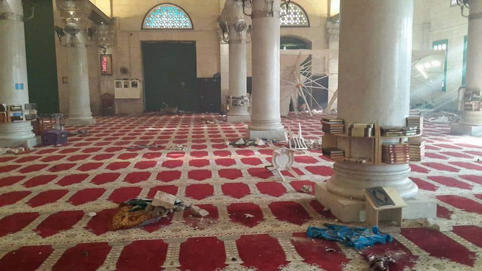 La mosquée Al-Aqsa prise d'assaut par les soldats sionistes 1