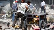 Massacre contre un marché de Douma en Syrie