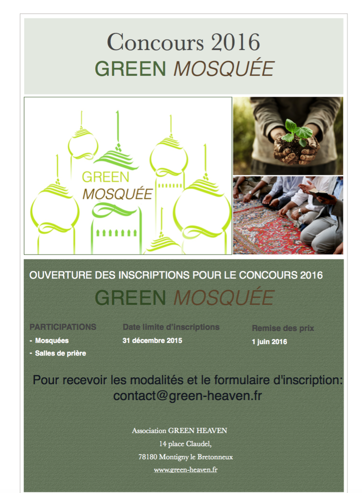 Concours GREEN MOSQUÉE 2016
