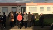 Rassemblement devant la future mosquée de Mantes-la-Ville