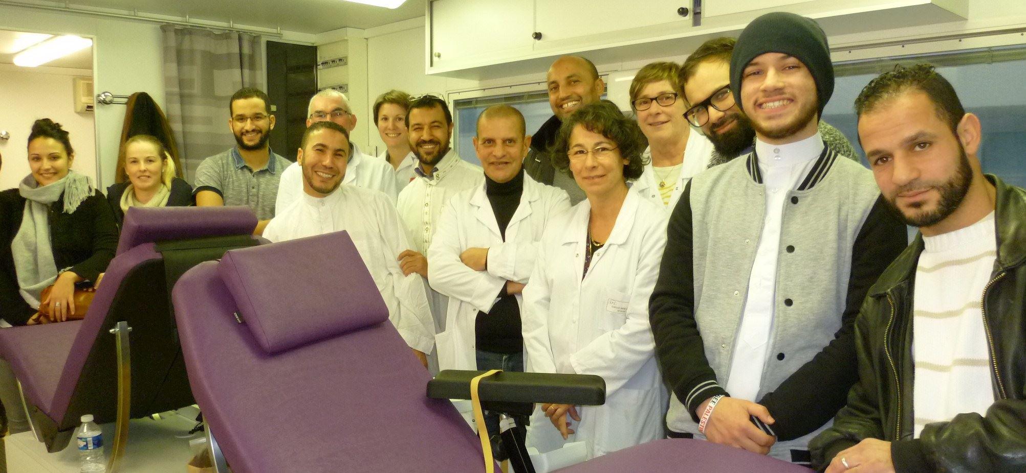 Don du sang à la mosquée de Valence