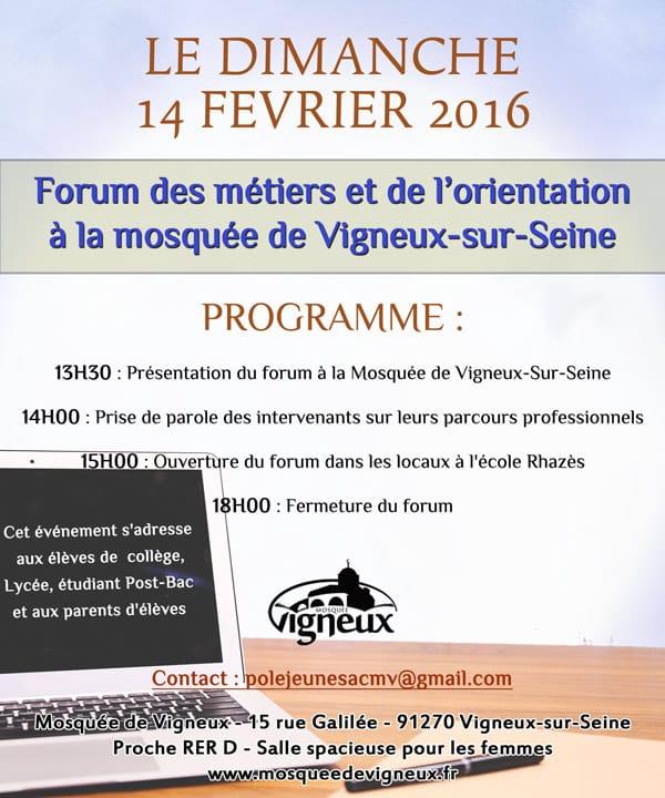 Trois mosqu es organisent des forums des m tiers et de l for Salon de l orientation mantes la jolie