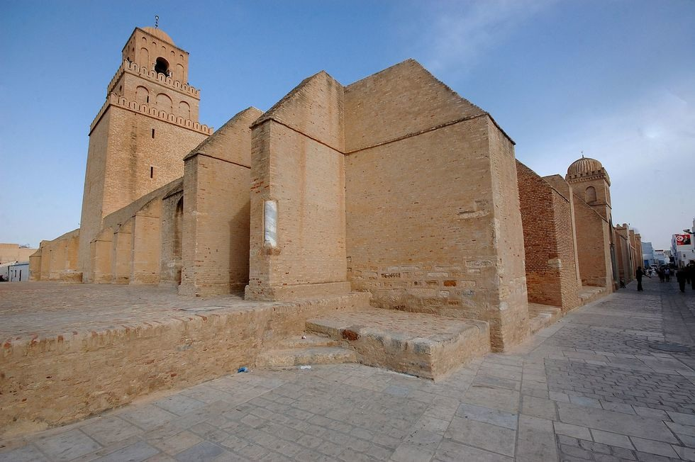 An_exterior_view_of_the_Great_Mosque_of_Kairouan