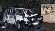 Car Firebombed Outside Thornlie Mosque