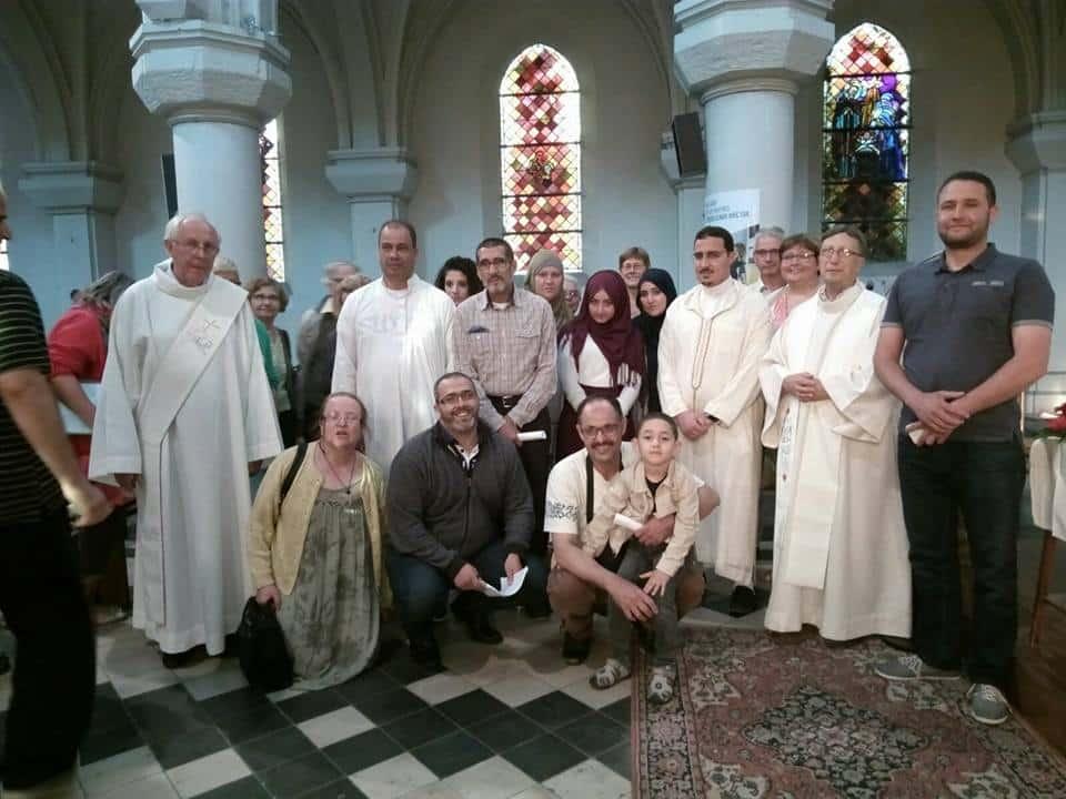 Musulmans à la l'église de Quièverechin