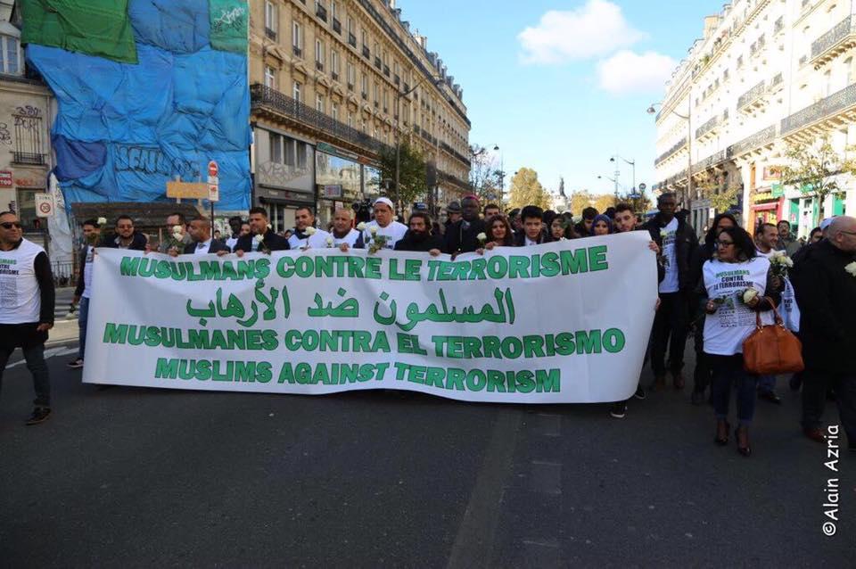 Chalghoumi marche contre le terrorisme