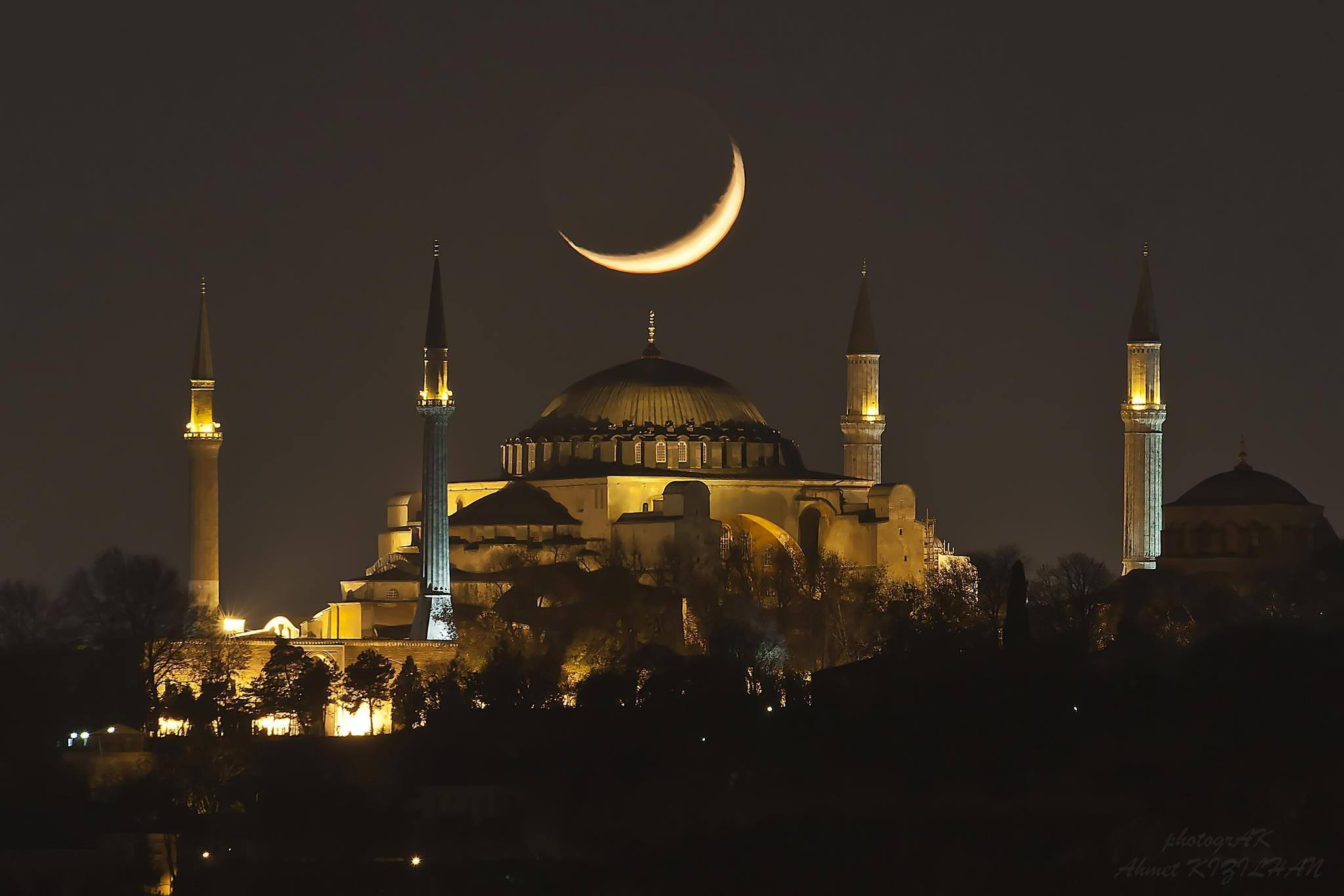 Croissant lune Istanbul calcul astronomique