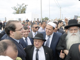 Chalghoumi en pèlerinage à la Synagogue de la Ghriba