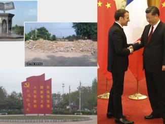 sculpture géante Coran détruite Chine