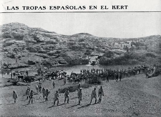 Troupes espagnoles à Oued Kert