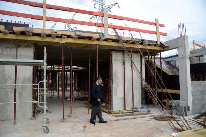 Le chantier de la mosquée de Roissy en Brie