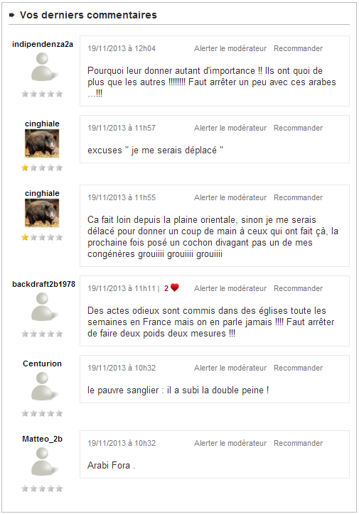 Commentaires Corse Matin
