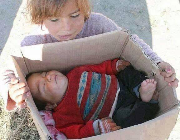 Bébé mort de froid en Syrie