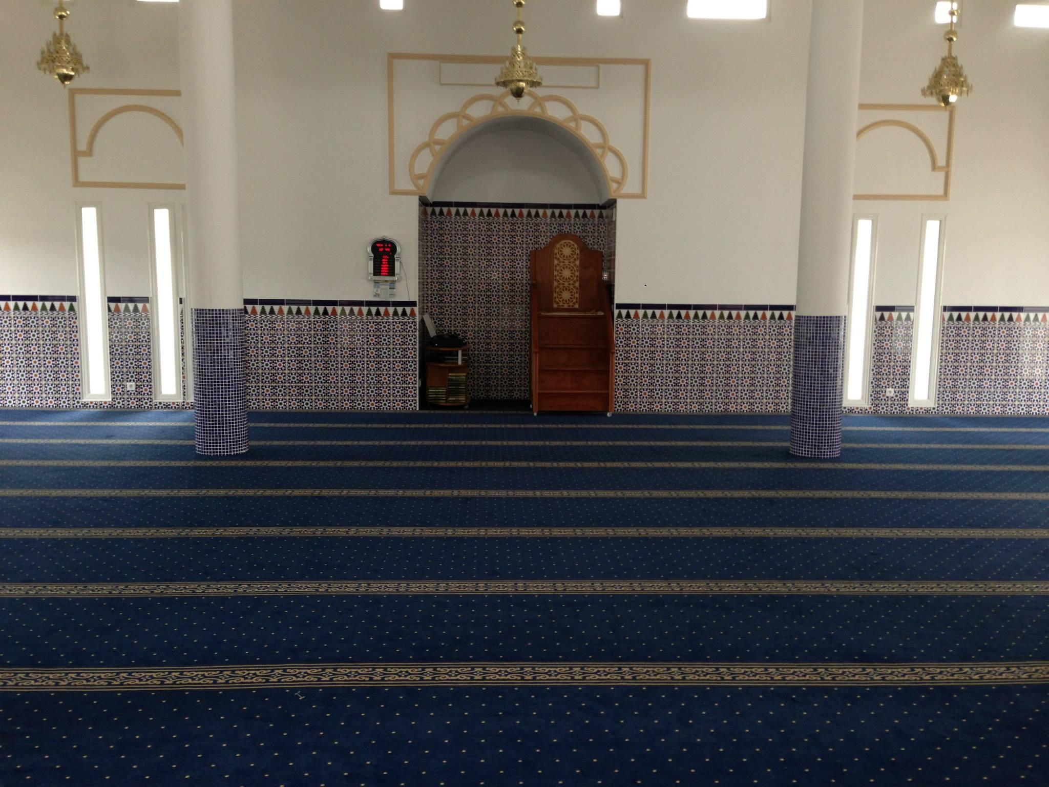 La salle de prière de la mosquée de Bayonne