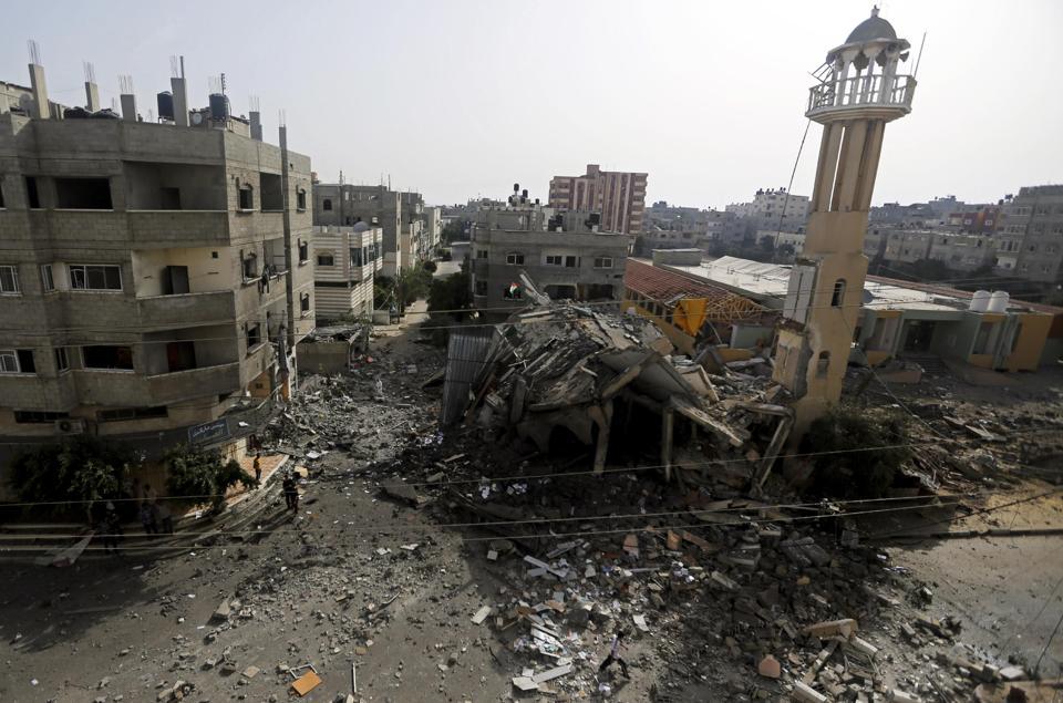 Une mosquée de Gaza détruite par un raid