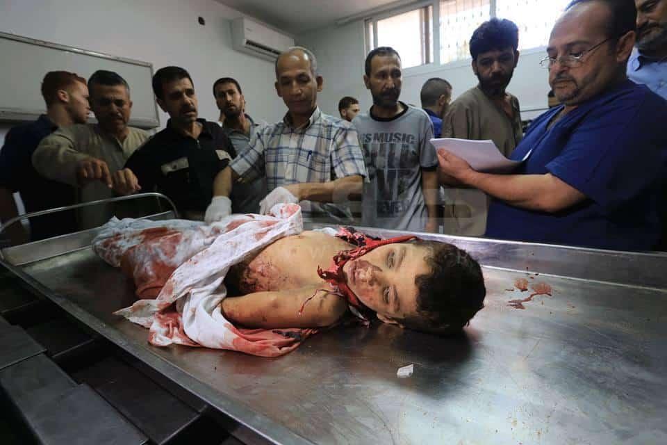 quatre enfants de Gaza victimes de l'entité sioniste 3