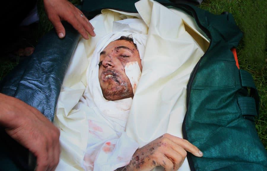 Ihsan Al-Agha mort l'index de l'unicité pointé vers le ciel